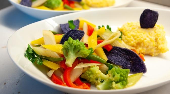 Buntes Gemüseallerlei mit Polenta: Der Schrecken aller Vegetarier