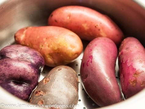 Farbige Bergkartoffeln