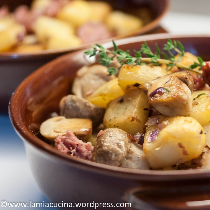 Kartoffel-Pilz-Wust-Gröstl