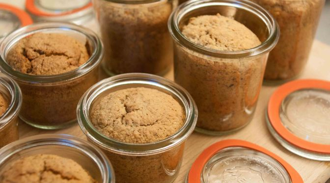 Fuatscha da marruns im Glas, glutenfreier Marronikuchen