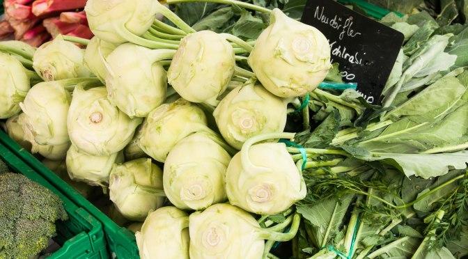 Kohlrabi-Rucola-Salat