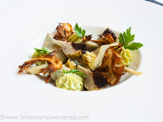 Delice von der Artischocke mit Avocadocreme