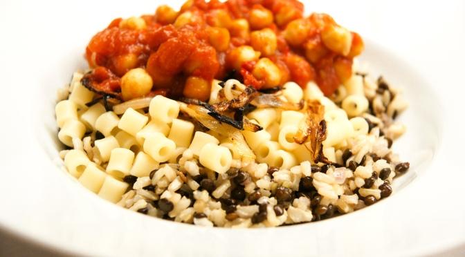 Kushari, Aegyptisches Fast Food aus sieben Töpfen