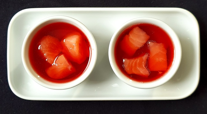 Lachs in Camparigelee