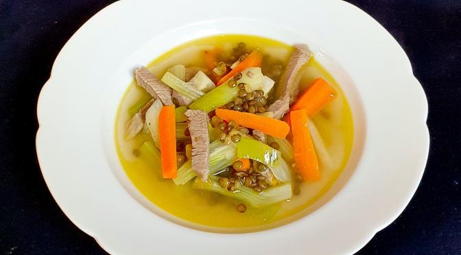 Suppe für die Seele. Nach Massimo Bottura.