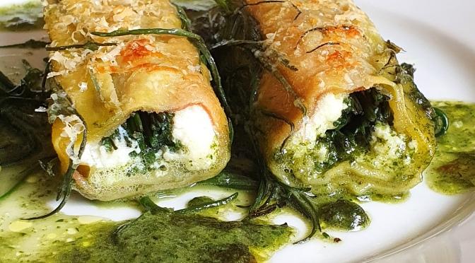 Suonen und Mönchsbart-Cannelloni